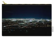 Aerial View Of A City Lit Up At Night Carry-all Pouch