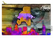 Atlanta Map And Skyline Watercolor Carry-all Pouch