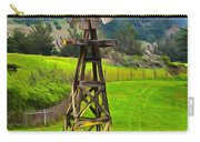 Painting San Simeon Pines Windmill Carry-all Pouch