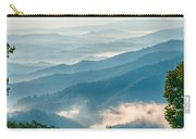 Blue Ridge Parkway Scenic Mountains Overlook Summer Landscape Carry-all Pouch