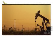 California Oil Field Under Amber Sky Carry-all Pouch