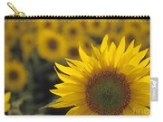 Close-up Of Sunflowers In A Field Carry-all Pouch