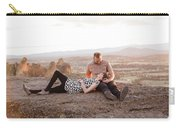 Engaged Couple At Smith Rock In Oregon Carry-all Pouch