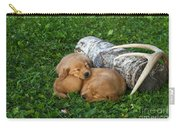 Golden Retriever Puppies Carry-all Pouch by Linda Freshwaters Arndt
