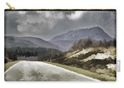 Highway Running Through The Wilderness Of The Scottish Highlands Carry-all Pouch