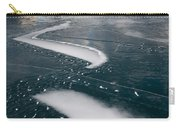 Ice Pattern On Frozen Abraham Lake Carry-all Pouch