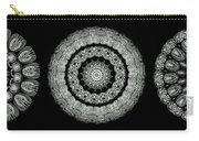 Kaleidoscope Ernst Haeckl Sea Life Series Black And White Set On Carry-all Pouch