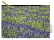 Lavendar Field Rows Of White And Purple Flowers Carry-all Pouch