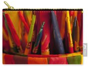 Multi Colored Paint Brushes Carry-all Pouch