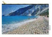 Myrtos Beach In Kefallonia Island Carry-all Pouch