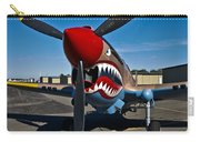 Nose Art On A Curtiss P-40e Warhawk Carry-all Pouch