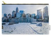 Rare Winter Scenery Around Charlotte North Carolina Carry-all Pouch