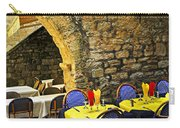 Restaurant Patio In France Carry-all Pouch by Elena Elisseeva