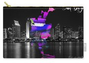San Diego California Map And Skyline Carry-all Pouch