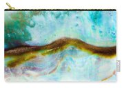 Shiny Nacre Of Paua Or Abalone Shell Background Carry-all Pouch