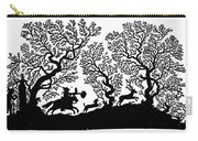 Silhouette, 19th Century Carry-all Pouch