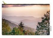 The Simple Layers Of The Smokies At Sunset - Smoky Mountain Nat. Carry-all Pouch