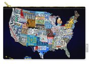 The Usa License Tag Map Carry-all Pouch