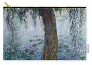 Waterlilies Morning With Weeping Willows Carry-all Pouch