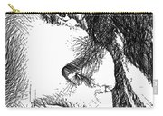 Woman Sketch Carry-all Pouch