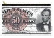 50 Cent Lincoln Bill  1863 Carry-all Pouch