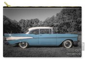 57 Chevy Black And White And Color Carry-all Pouch