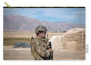 A Coalition Force Member Maintains Carry-all Pouch