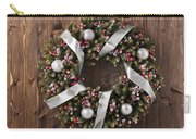 Advent Christmas Wreath Decoration Carry-all Pouch
