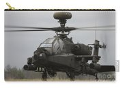 Ah-64 Apache Helicopter On The Runway Carry-all Pouch