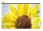 Bee On Flower Carry-all Pouch by Les Cunliffe