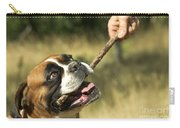 Boxer Dog Carry-all Pouch by Jean-Michel Labat