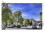 Cars On A Street In Edinburgh Carry-all Pouch