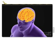 Conceptual Image Of Human Brain Carry-all Pouch