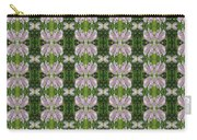 Flowers From Cherryhill Nj America Silken Sparkle Purple Tone Graphically Enhanced Innovative Patter Carry-all Pouch