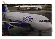 Indigo Aircraft Getting Ready In Changi Airport Carry-all Pouch