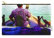 Lady Sleeping While Boatman Steers Carry-all Pouch
