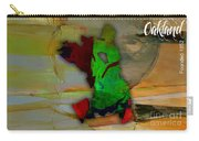Oakland Map And Skyline Watercolor Carry-all Pouch