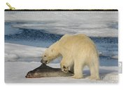 Polar Bear With Fresh Kill Carry-all Pouch