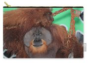 Portrait Of A Large Male Orangutan Carry-all Pouch