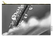 Raindrops On Grass Carry-all Pouch by Elena Elisseeva