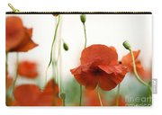 Red Poppy Flowers Carry-all Pouch