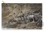 Wildebeests Crossing Mara River, Kenya Carry-all Pouch