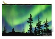 Yukon Taiga Spruce Northern Lights Aurora Borealis Carry-all Pouch