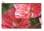 Zonal Geranium Named Mosaic Red Carry-all Pouch