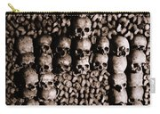 Skulls And Bones In The Catacombs Of Paris France Carry-all Pouch