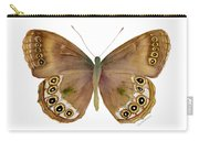64 Woodland Brown Butterfly Carry-all Pouch by Amy Kirkpatrick