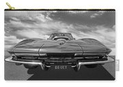 66 Vette Stingray In Black And White Carry-all Pouch