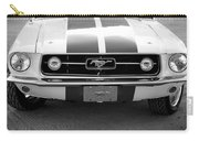 67 Mustang Front In Black Carry-all Pouch