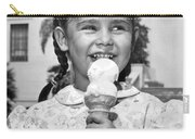 Girl With Ice Cream Cone Carry-all Pouch
