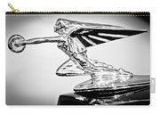 1935 Packard Hood Ornament -0295bw Carry-all Pouch